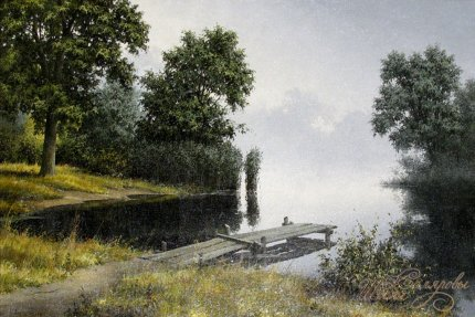 Мостик на озере