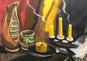 Натюрморт со свечами