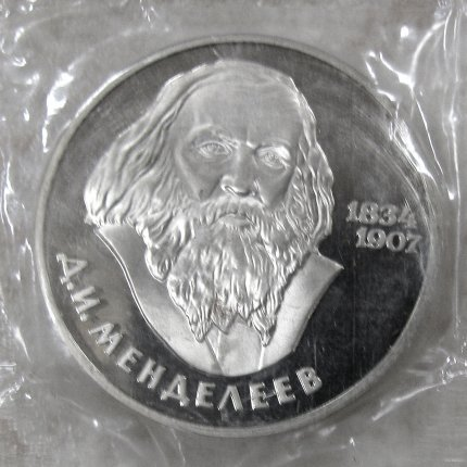 Монета «Д.И. Менделеев» 1 рубль